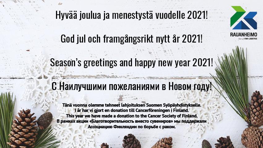 Joulukortti 2020 Rauanheimo